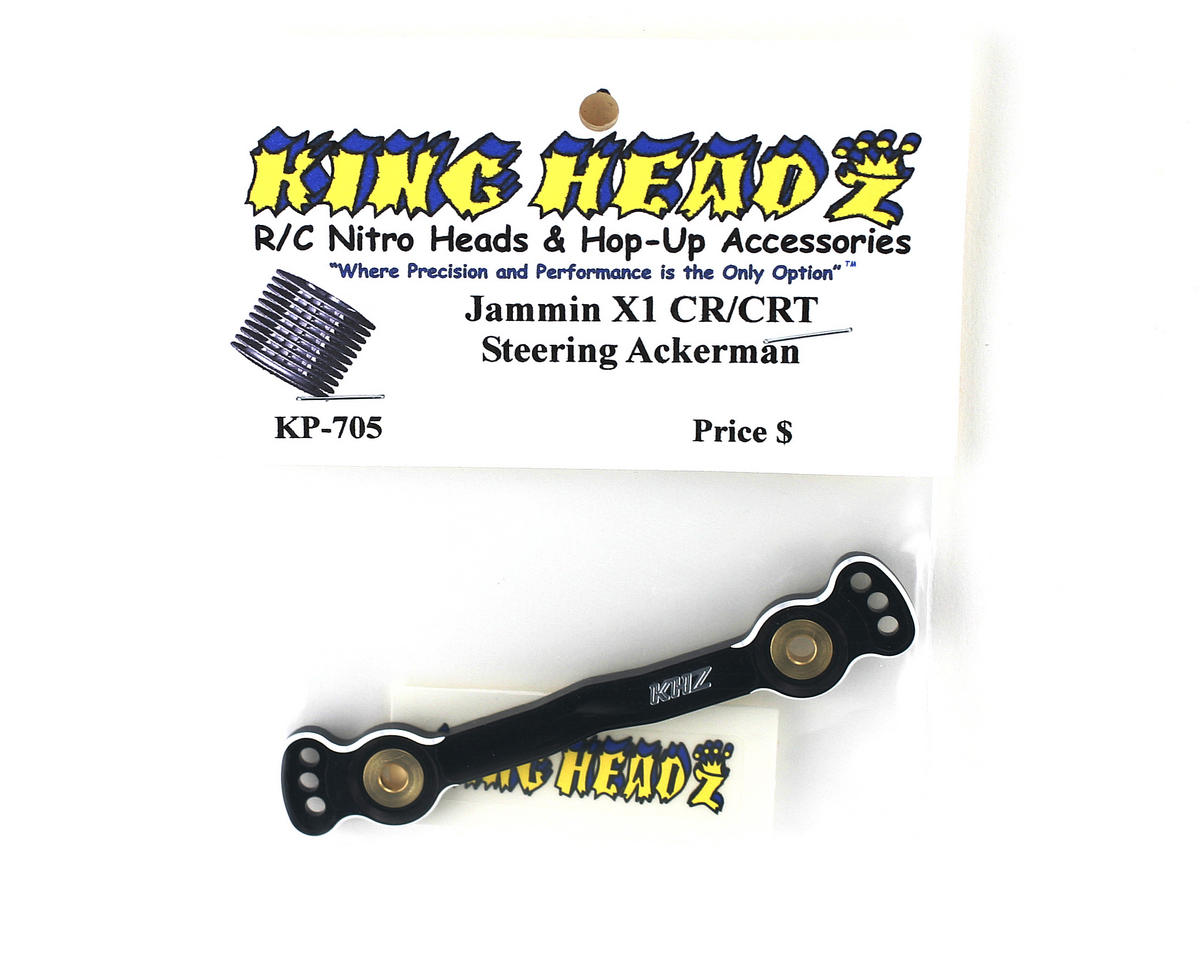 King Headz Jammin X1-CR/X1-CRT Steering Ackerman Plate (Black)