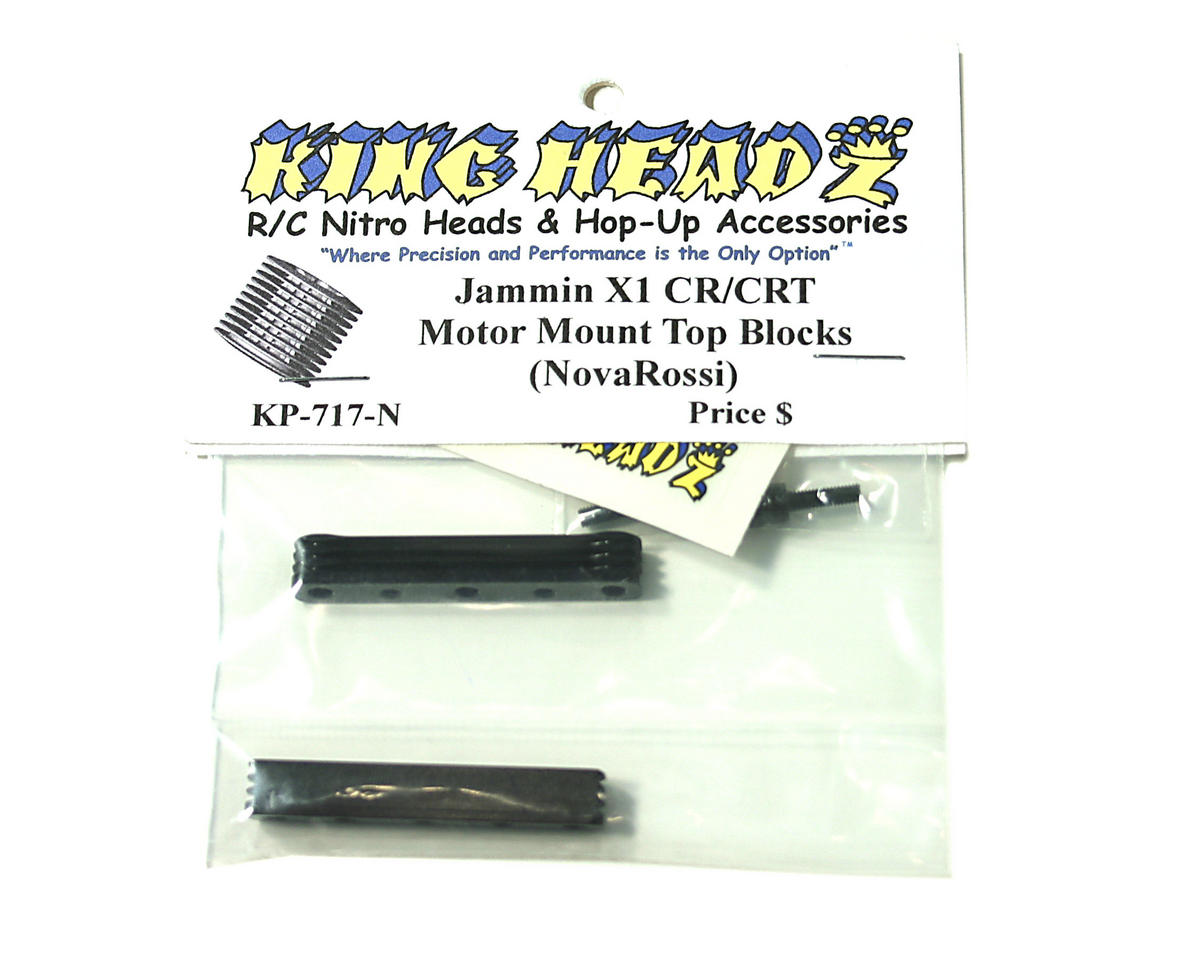King Headz Quick Change Motor Mount Top Plate (Black)