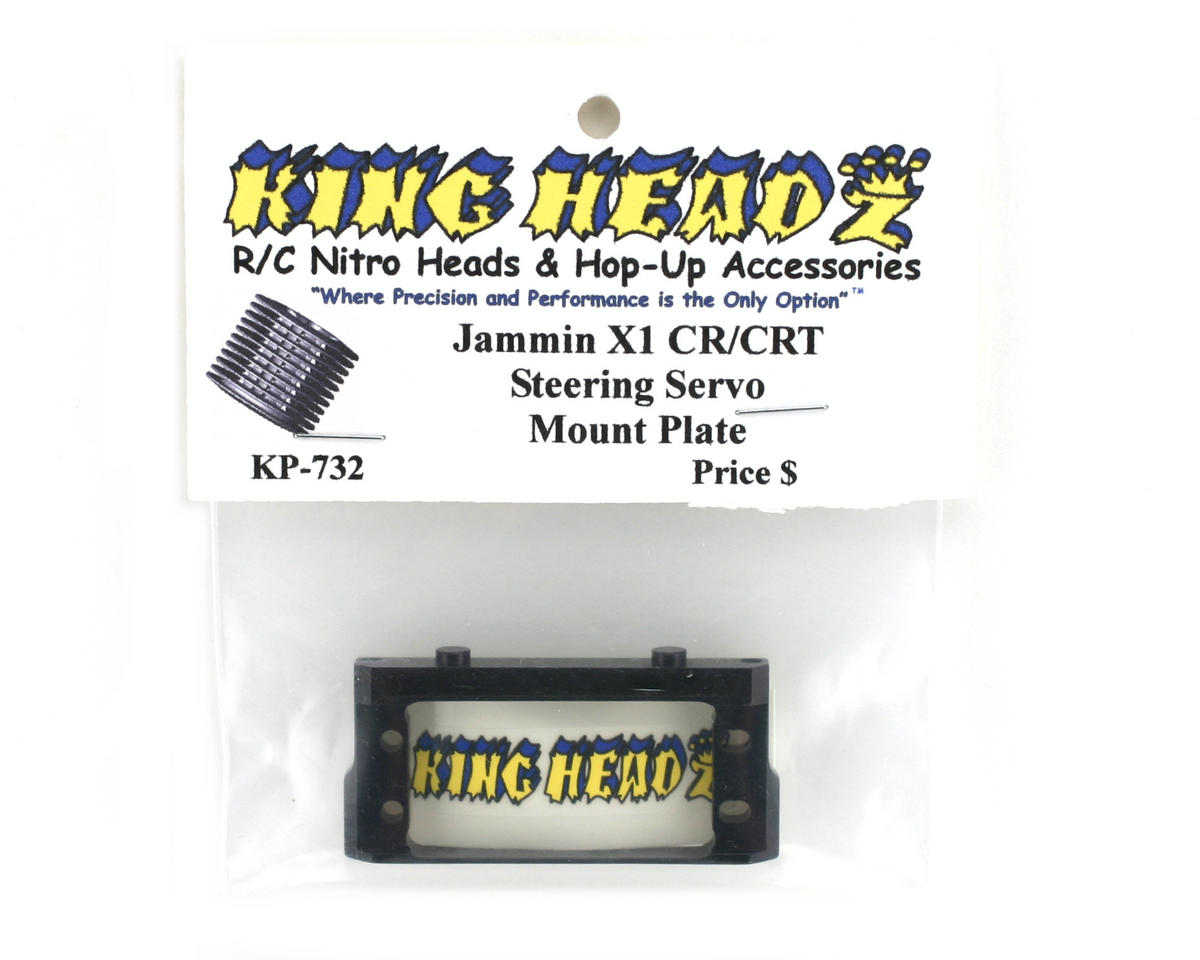 King Headz Jammin X1-CR/CRT Steering Servo Mount Plate