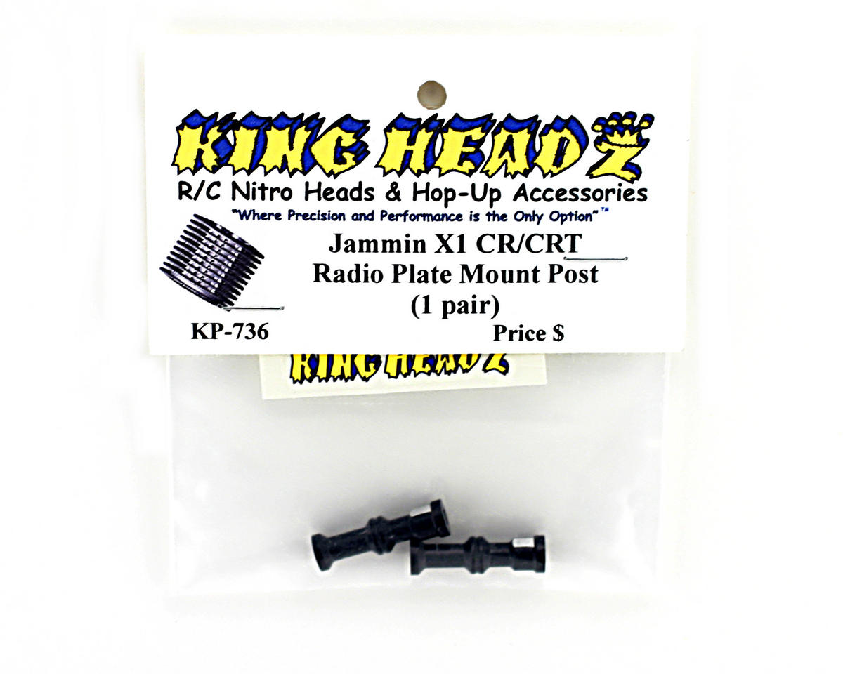 King Headz Jammin X1-CR/CRT Radio Plate Posts