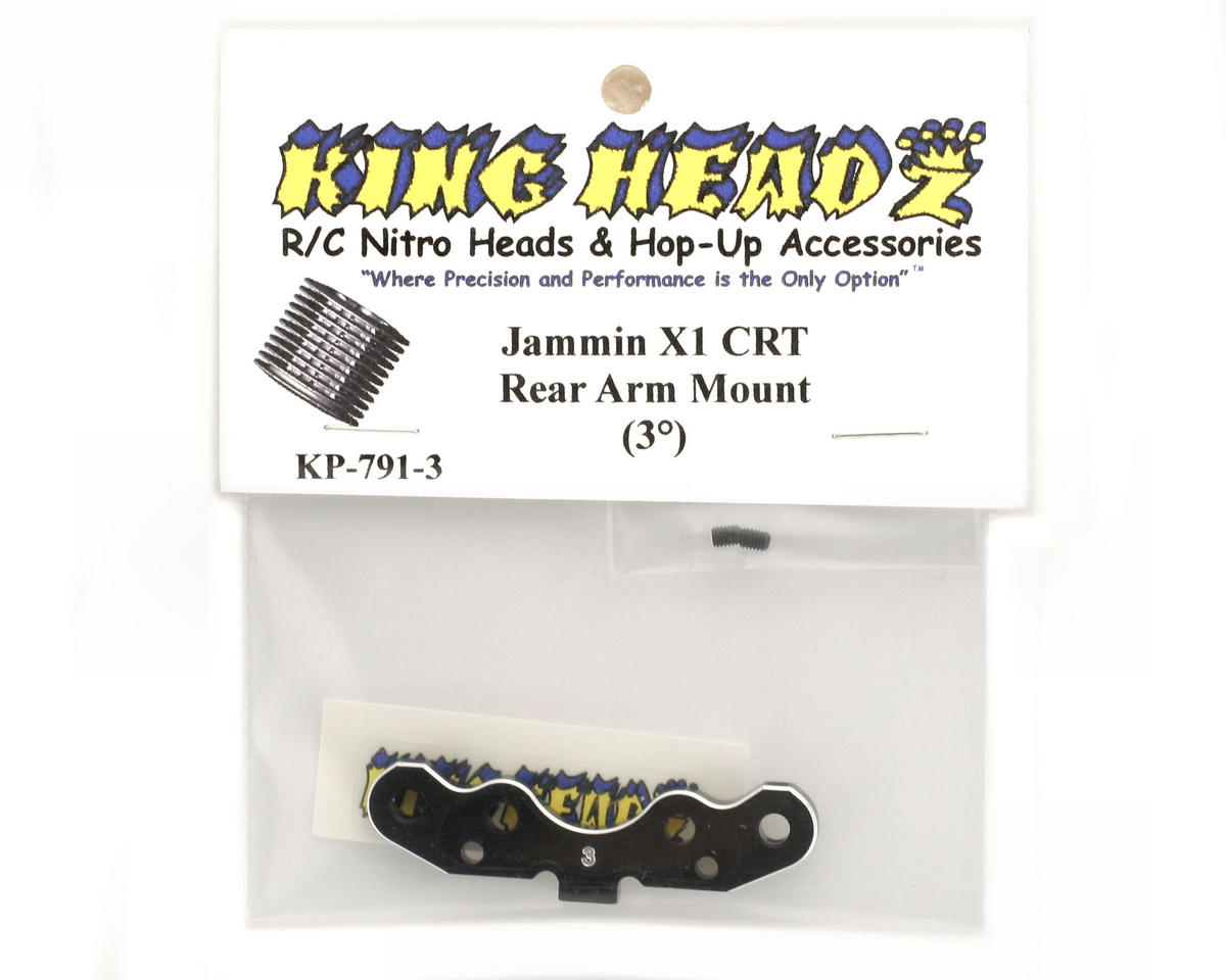 King Headz Jammin X1-CRT Rear Arm Mount (3°)