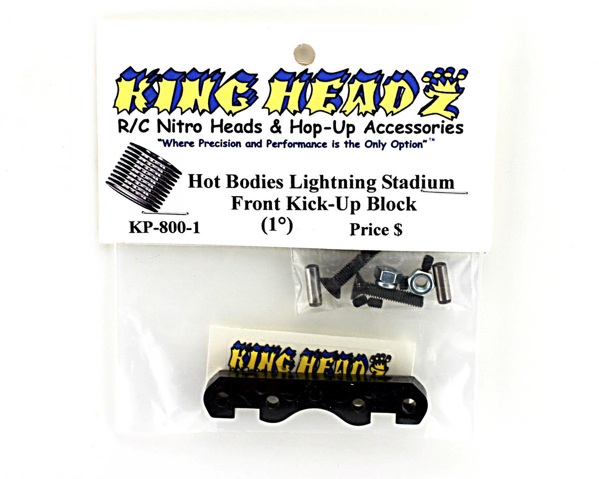King Headz Hot Bodies Lightning Front Kick-Up Block (1 degree) - Black