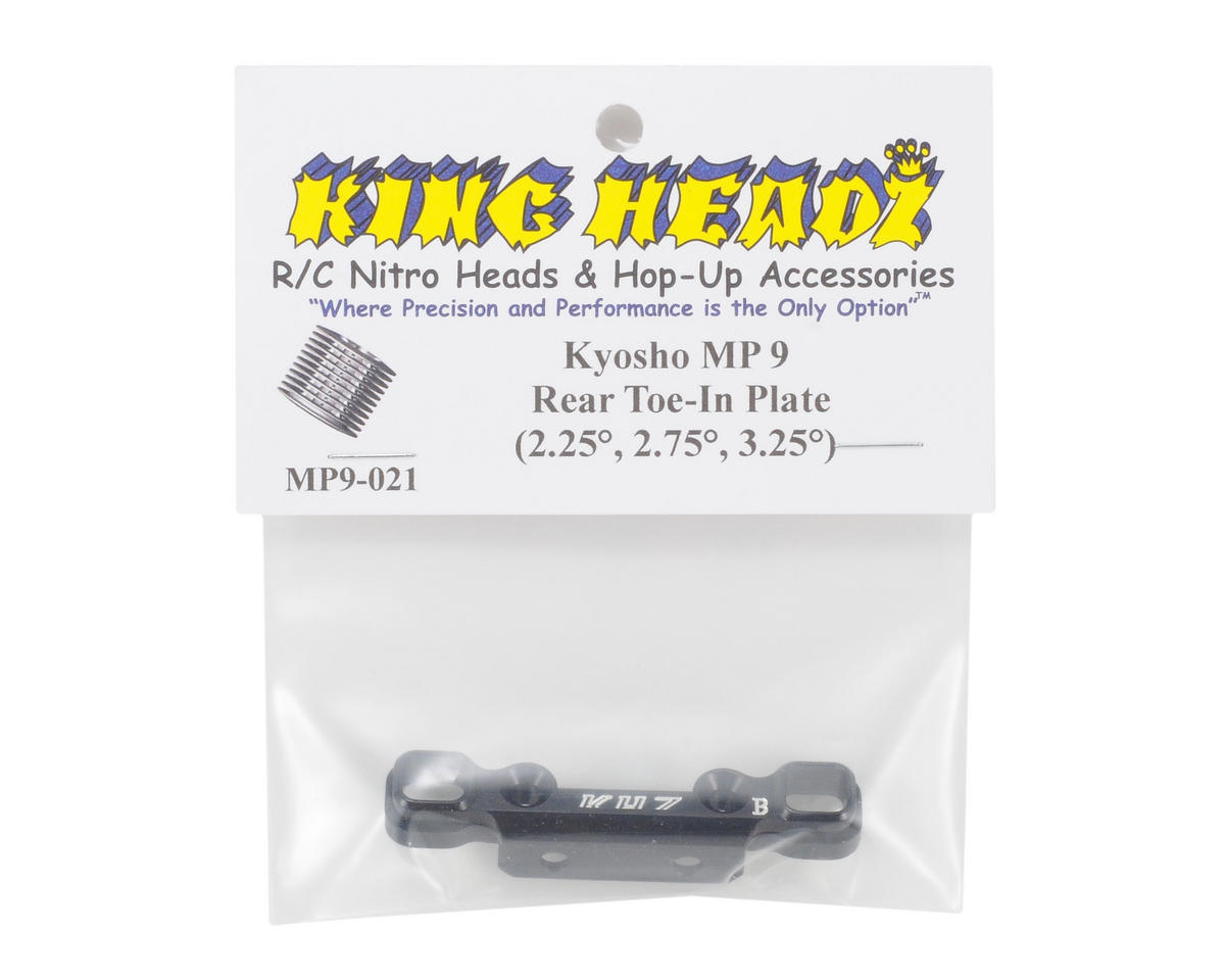King Headz Kyosho MP9 Rear Toe-In Plate (2.25°, 2.75°, 3.25°)