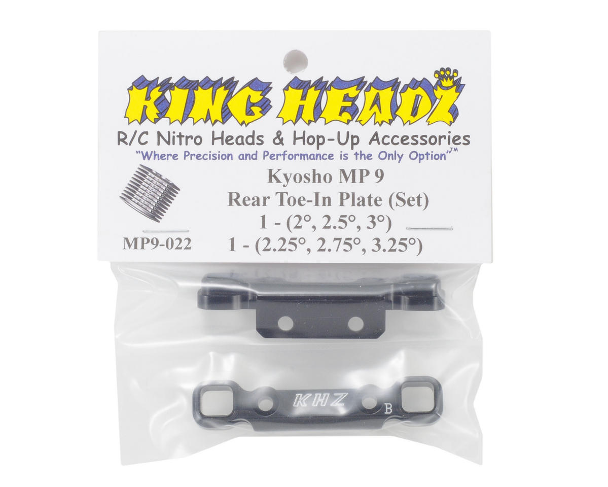 King Headz Kyosho MP9 Rear Toe-In Plate Set (MP9-020 / MP9-021)