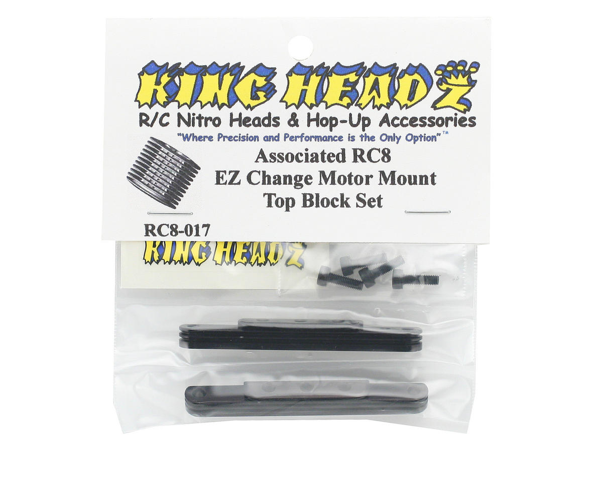 King Headz Associated RC8 Motor Mount Top Blocks