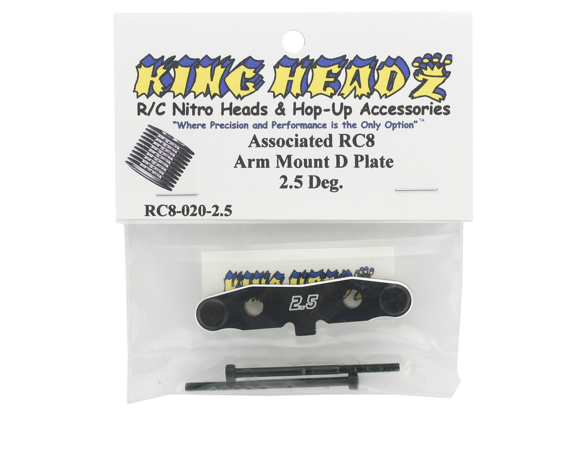 "King Headz Associated RC8 Rear Toe-In ""D"" Plate (2.5°)"