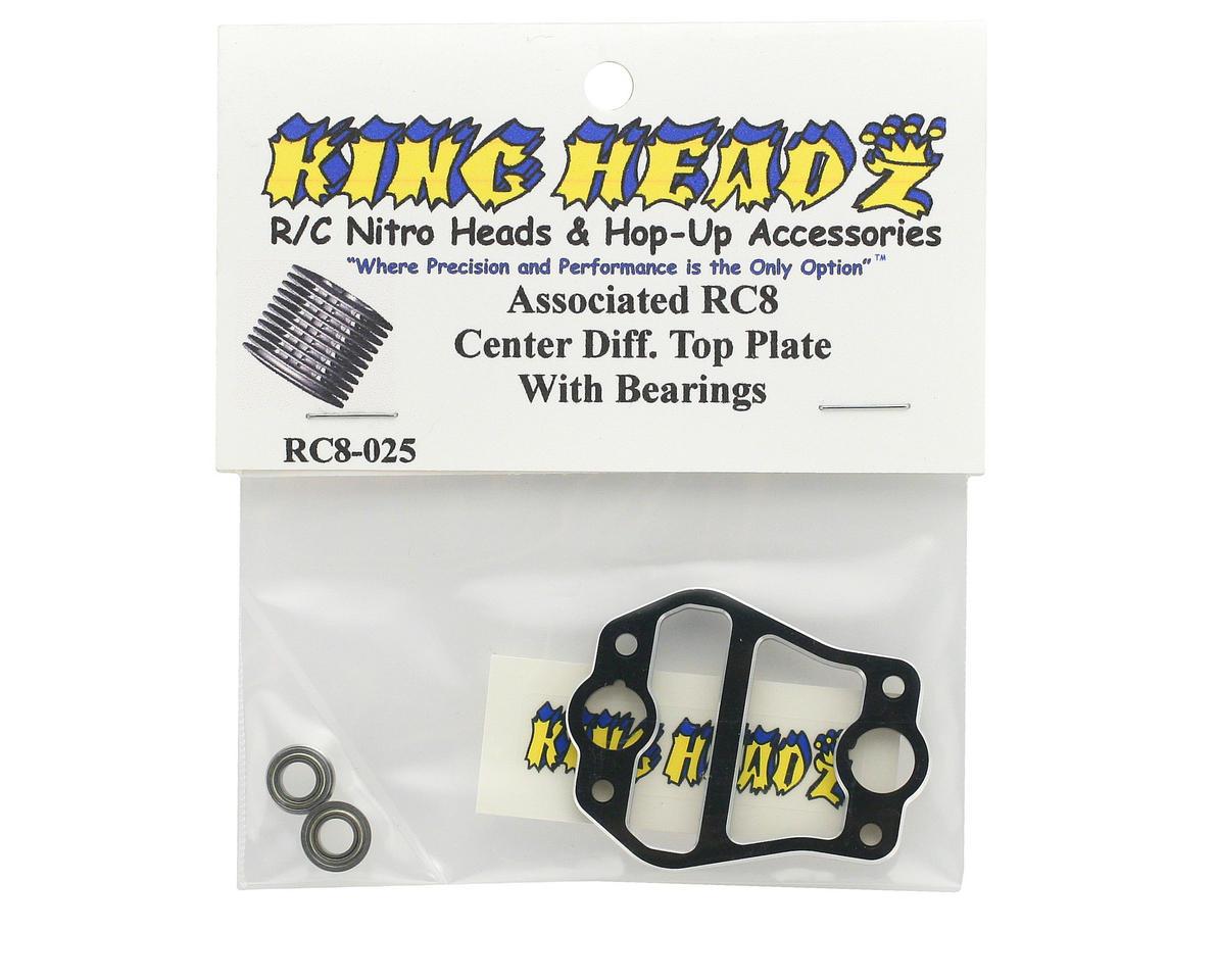 King Headz Associated RC8 Center Diff Top Plate
