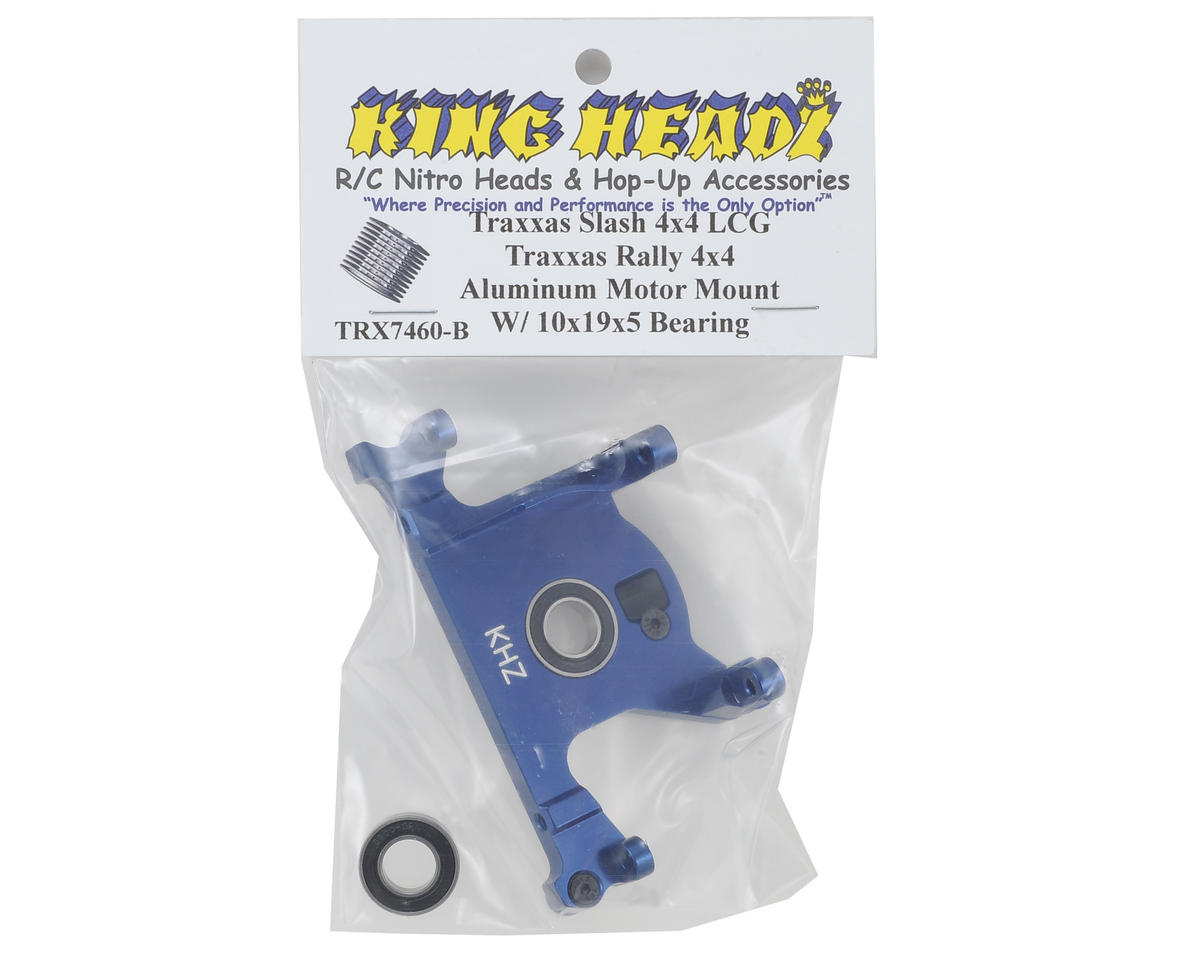 King Headz Traxxas Slash 4x4 LCG/Rally Aluminum Motor Mount w/Bearing (Blue)