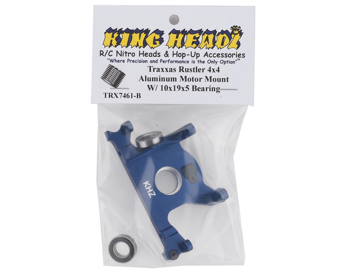 King Headz Traxxas Rustler 4x4 Aluminum Motor Mount w/Bearing (Blue)