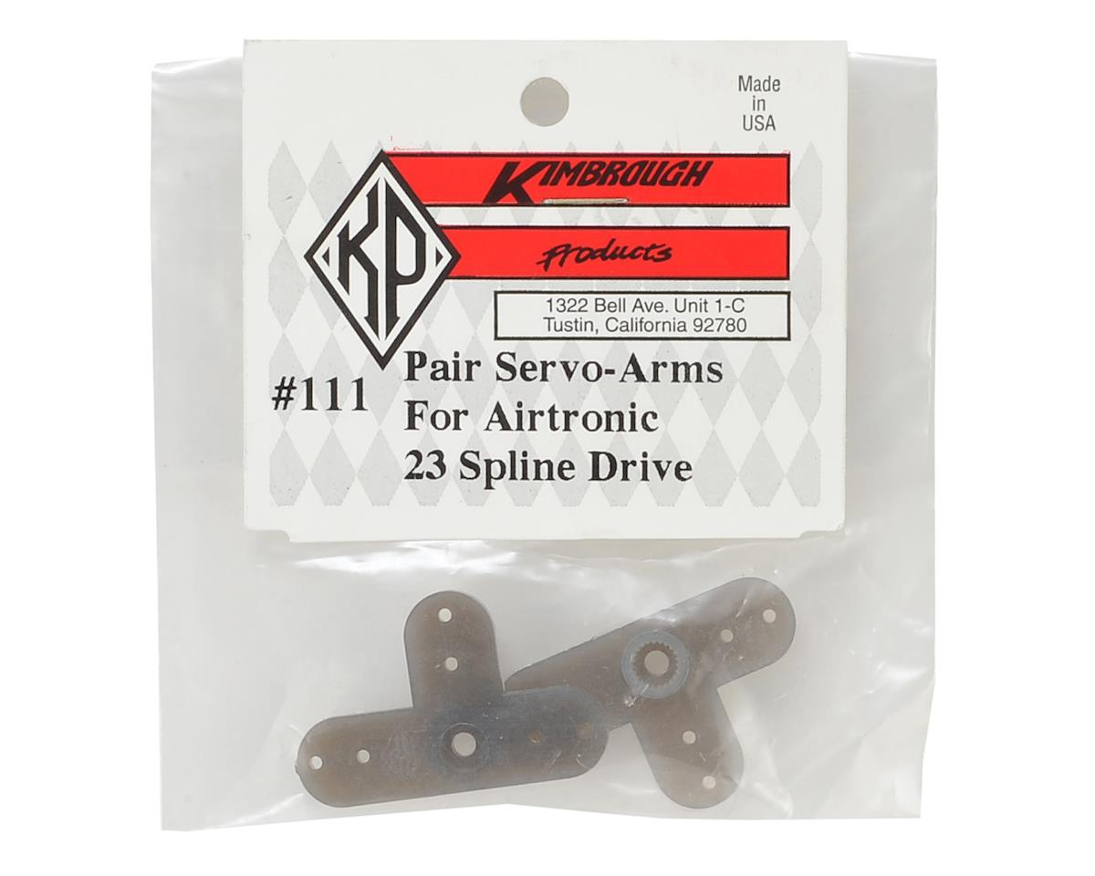 Kimbrough 23 Spline Servo Arms for KO/Airtronics/JR Servos (2)