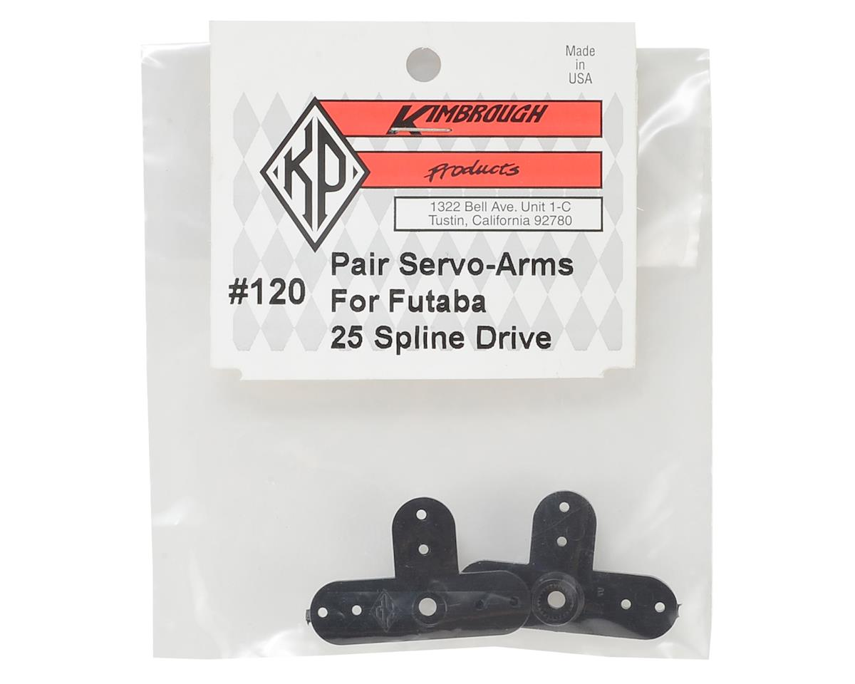 Kimbrough 25 Spline Servo Arms for Futaba/Thunder Tiger Servos (2)
