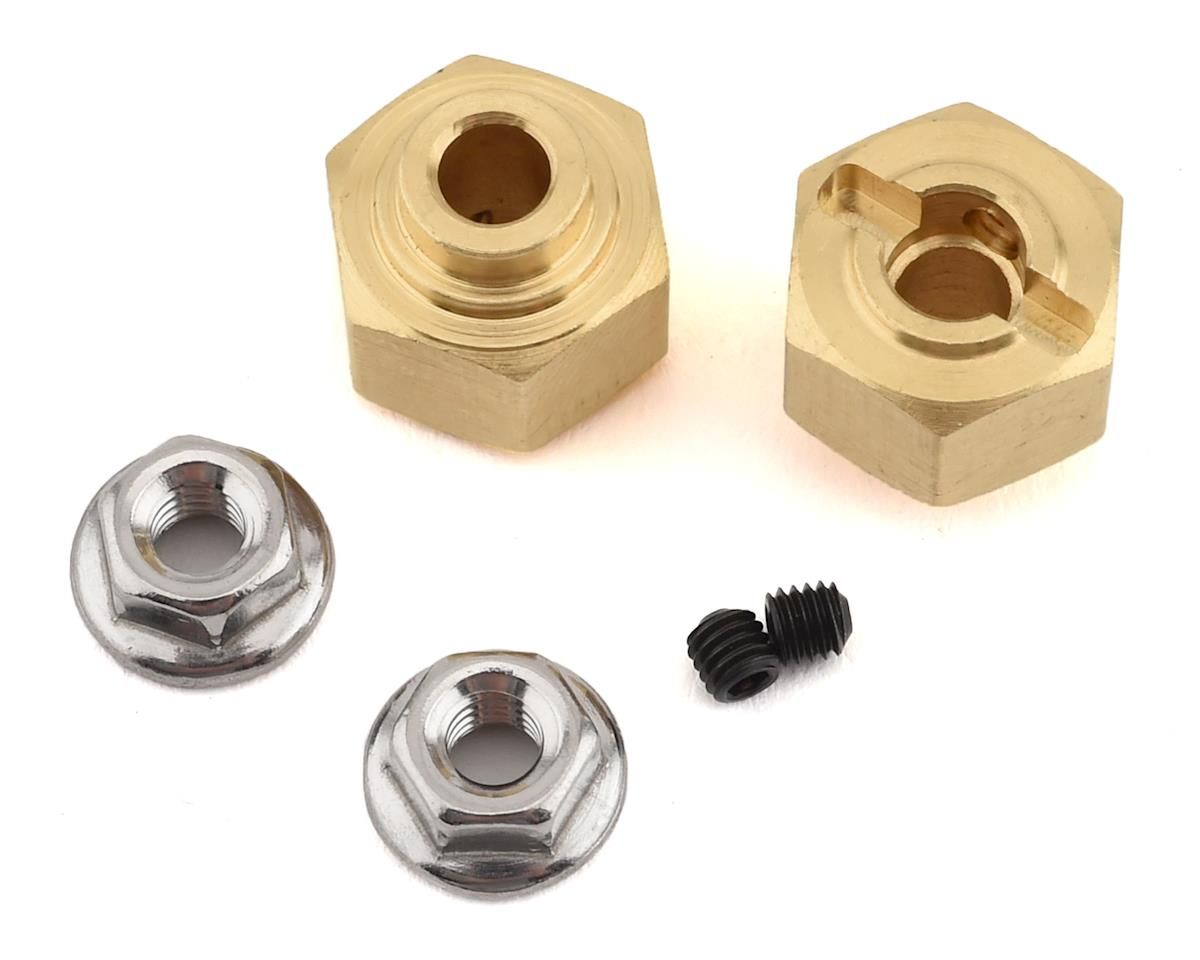 12mm Brass Hex w/Step (2) (10mm)