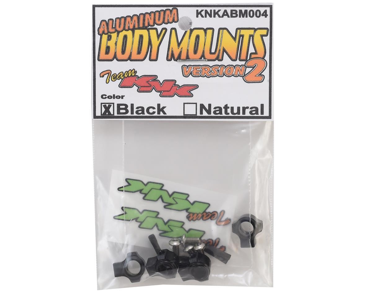 Team KNK Version 2 Aluminum Body Mounts w/Screw Pins (Black)