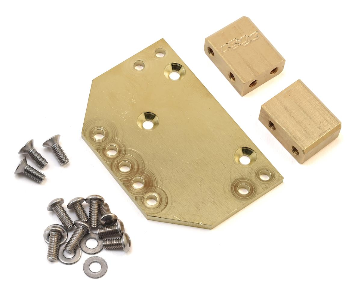 Team KNK Brass Servo Mount Kit w/Upper 4 Link Mount Holes