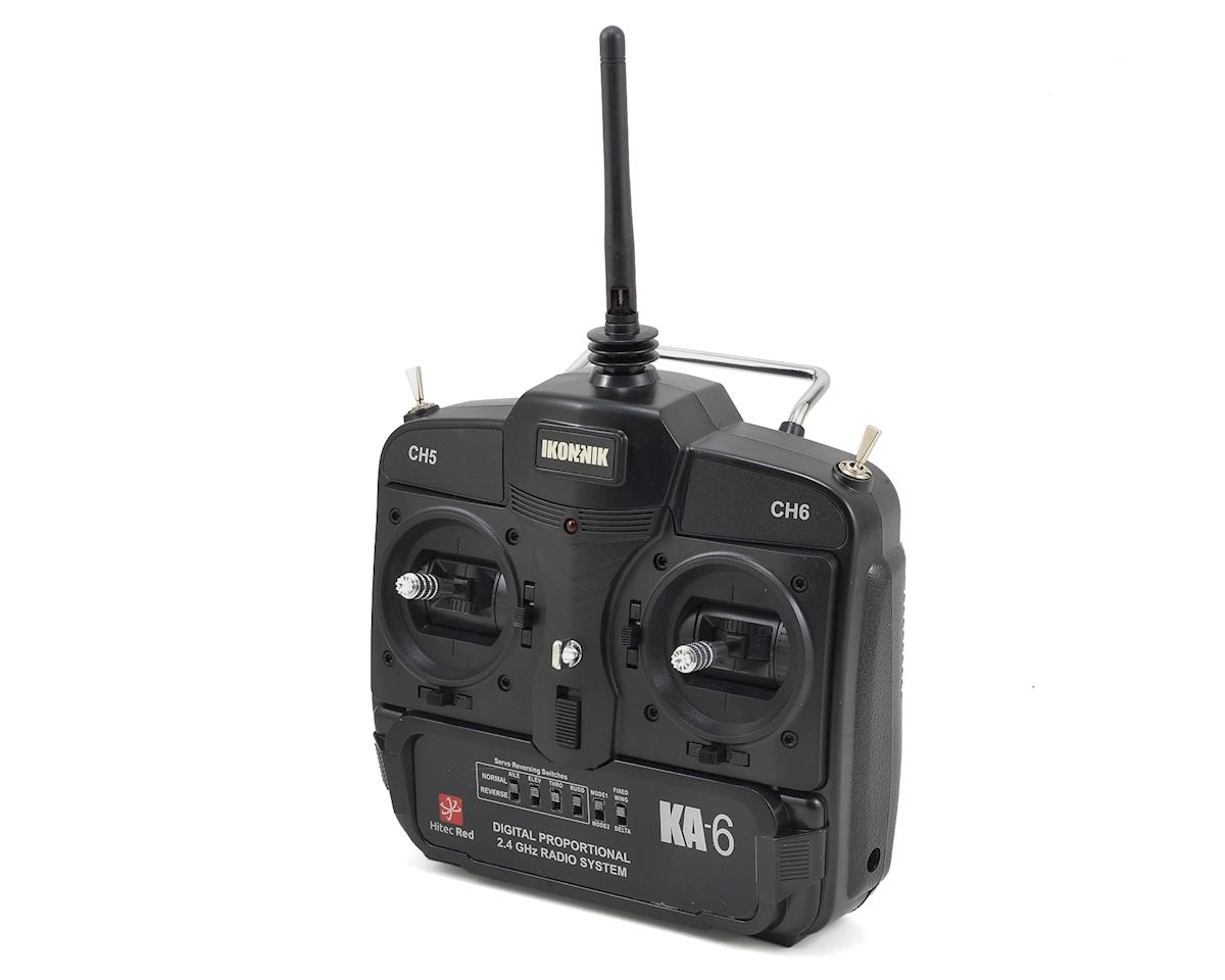 Ikonnik KA-6 6-Channel Transmitter & Receiver (Hitec Red) (Mode 2)