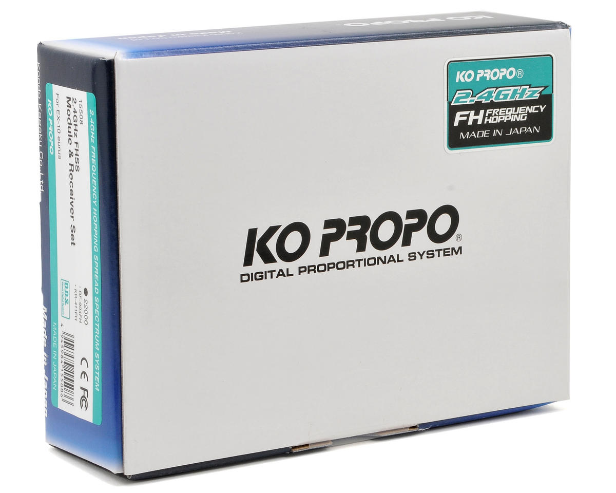 KO Propo RF-904FH 2.4GHz FH-SS Transmitter Module w/KR-411FH Receiver (EX-10 Eurus)