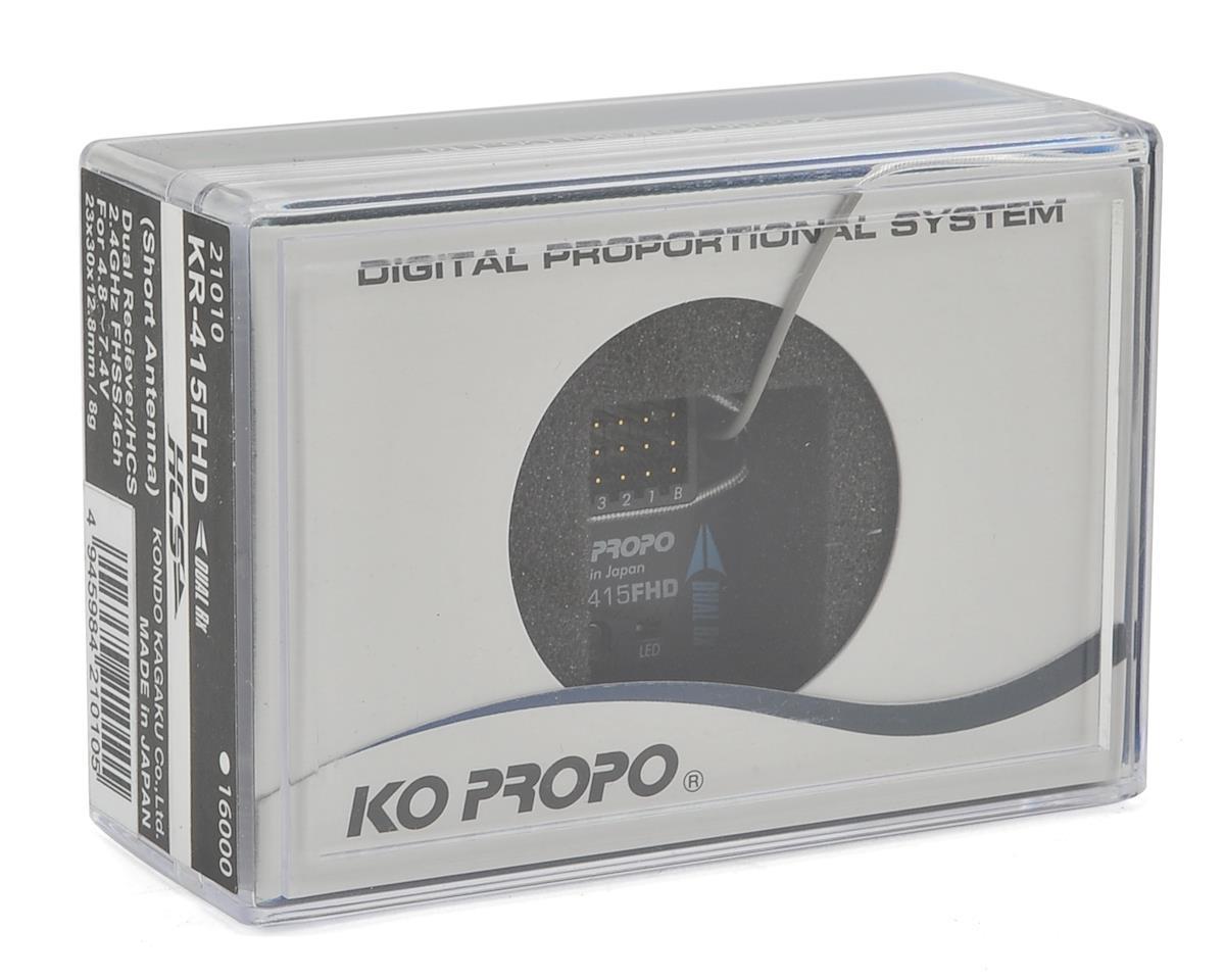 KO Propo KR-415FHD 2.4GHz 4-Channel FHSS Micro Receiver (Short Antenna)