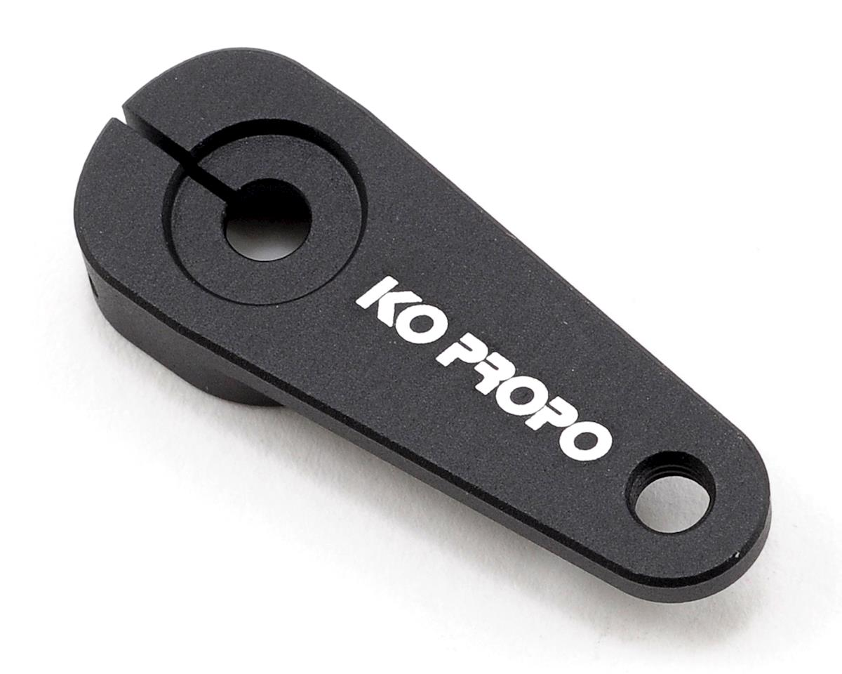 KO Propo Machined Aluminum Single Sided Clamping Servo Horn (Black) (KO Only)