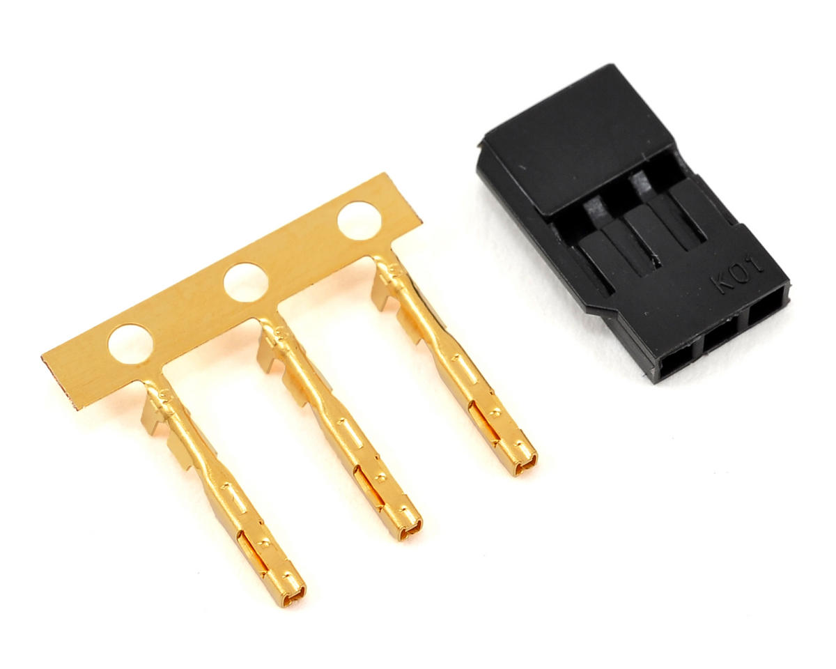 KO Propo Servo Connector Plug Set w/3 Gold Pins