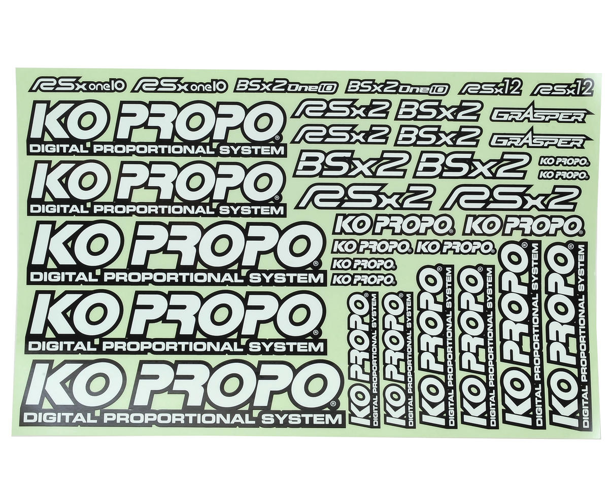 KO Propo Decal Sheet (White)