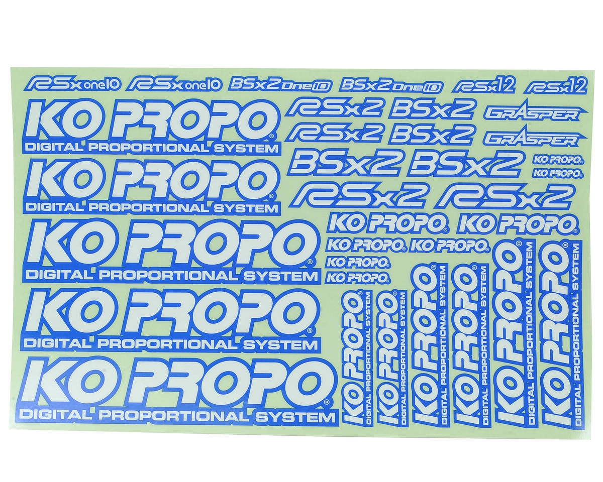 KO Propo Decal Sheet (Blue)