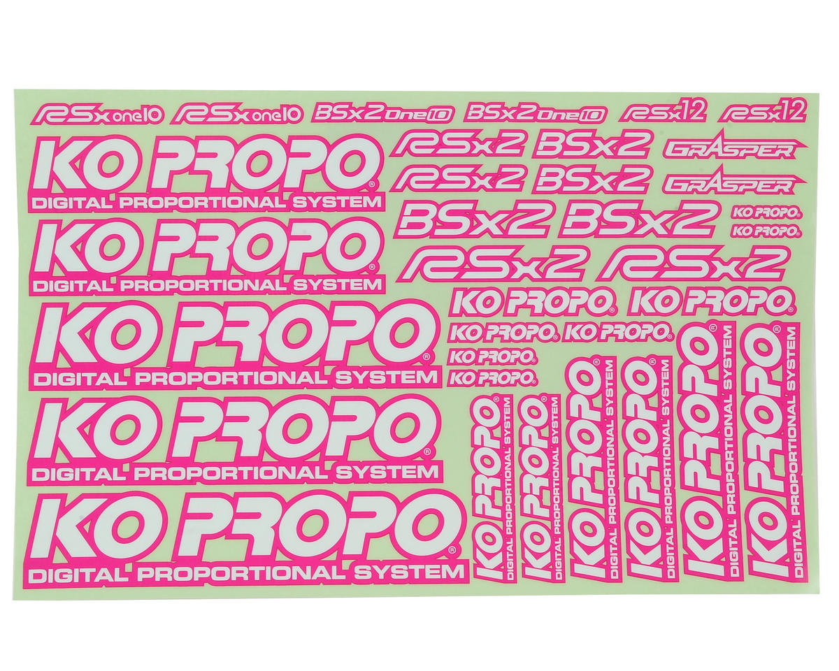 KO Propo Decal Sheet (Pink)