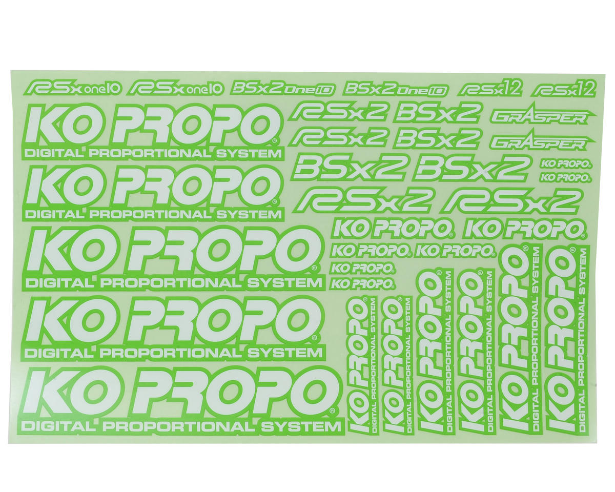 KO Propo Decal Sheet (Green)