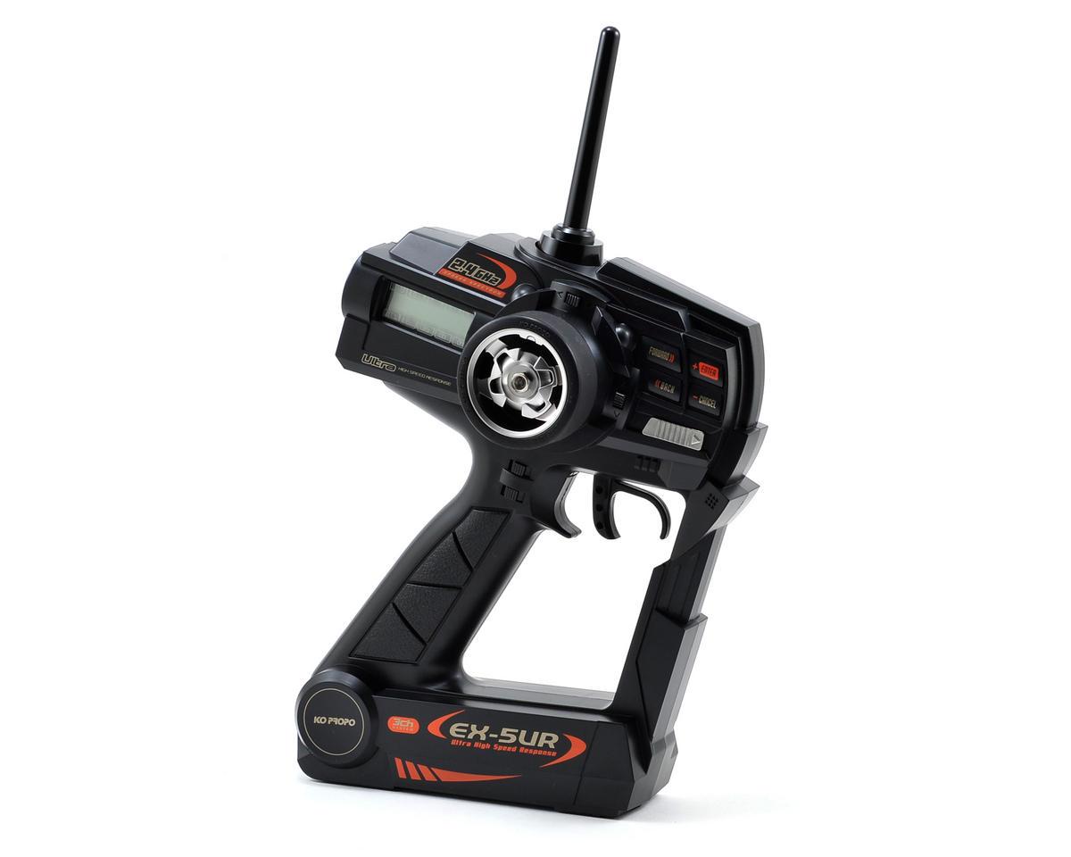 KO Propo EX-5 UR 2.4Ghz Radio System w/2 KR-407S Receivers (No Servos)