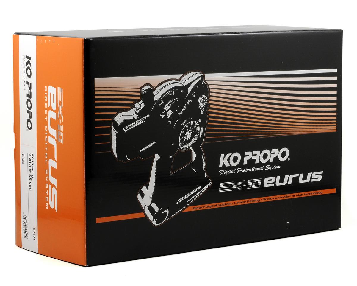 KO Propo EX-10 Eurus D.D.S 2.4GHz Radio System w/KR409S Receiver