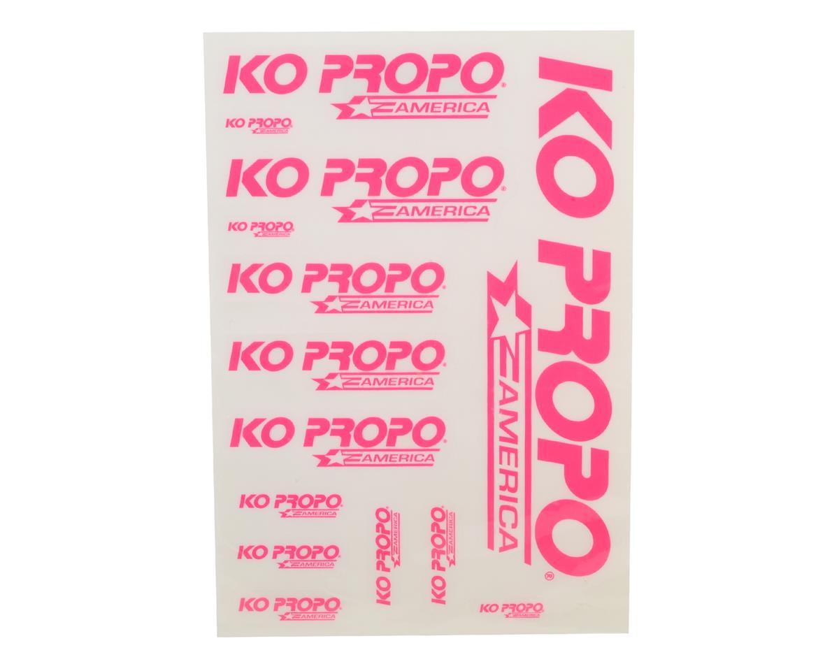 KO Propo KO America Precut Decal Sheet (Pink)