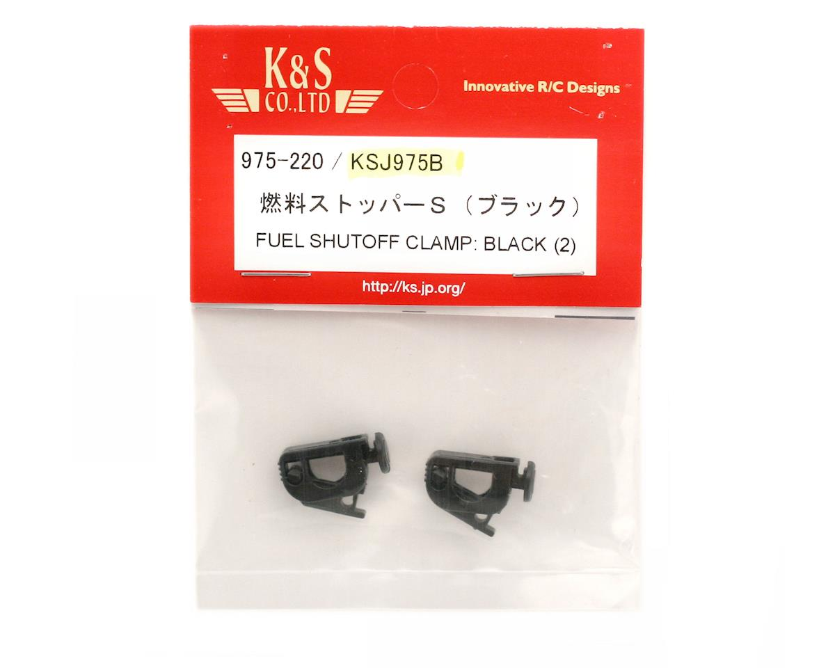 K & S Fuel Shutoff Clamp (Black) (2)