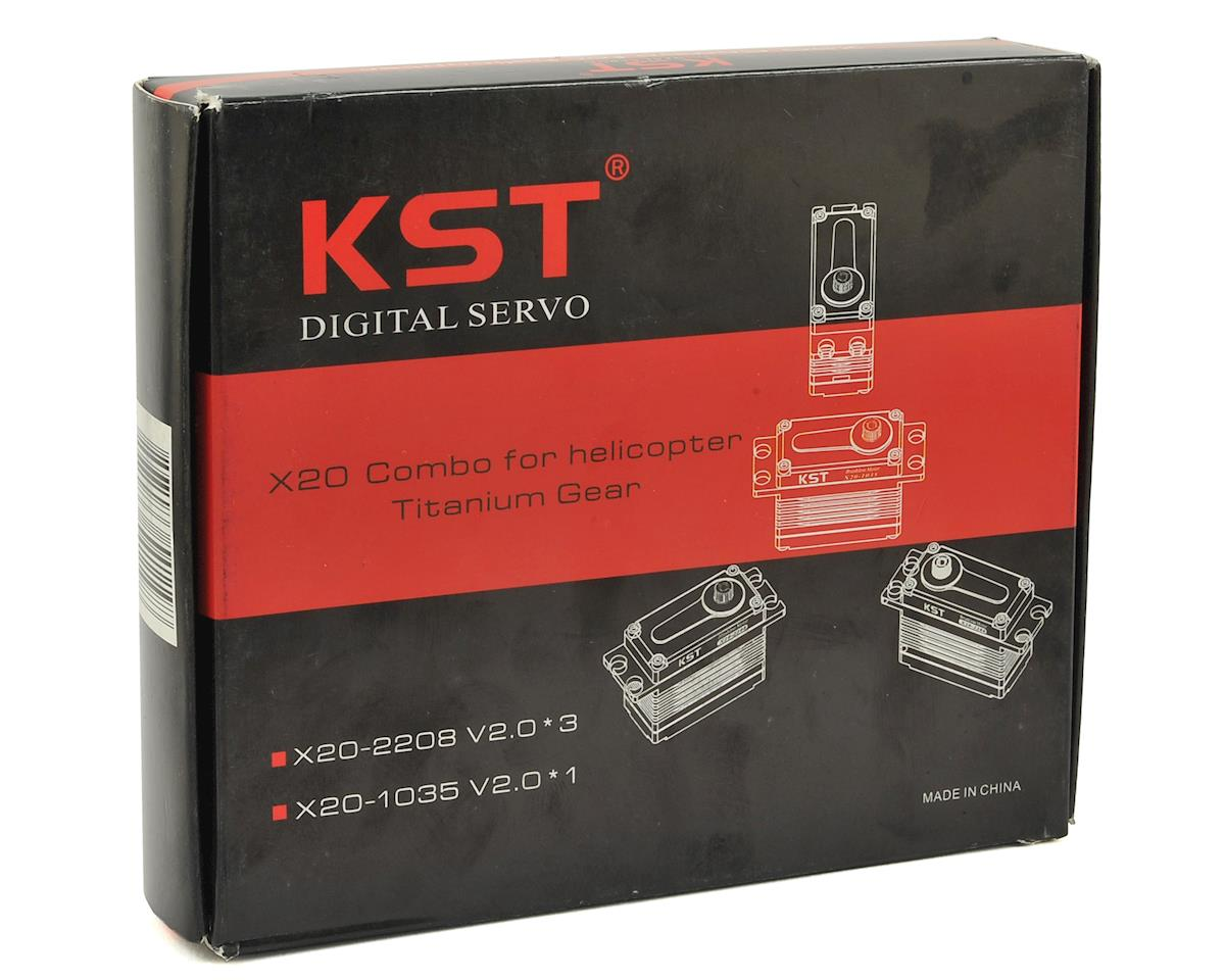 KST X20 Helicopter Brushless Servo Combo Pack