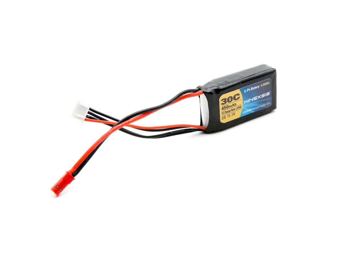 Kinexsis 11.1V 450mAh 3S 30C LiPo, 18AWG, JST