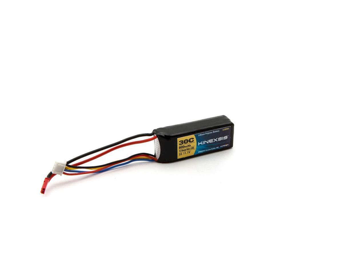 Kinexsis 11.1V 800mAh 3S 30C LiPo, 18AWG, JST