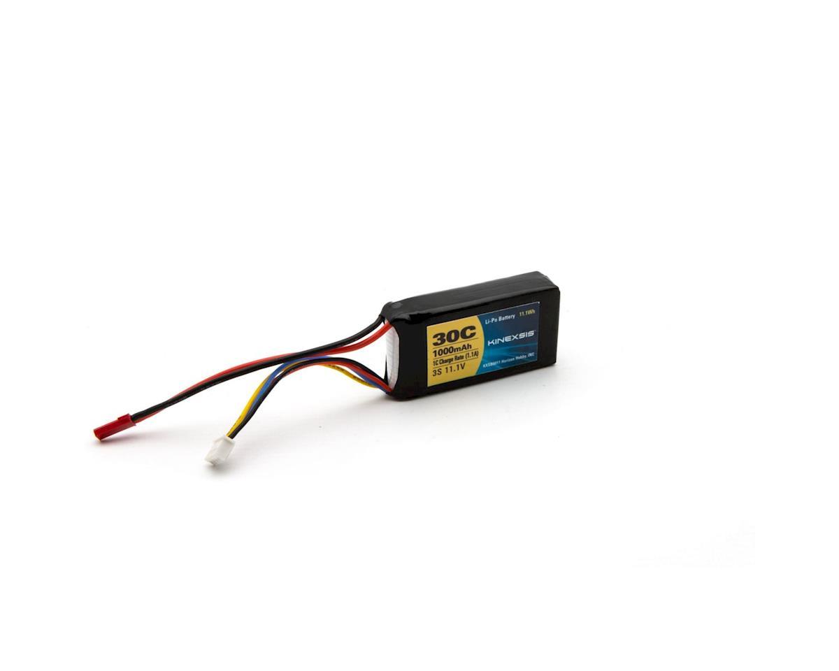 Kinexsis 11.1V 1000mAh 3S 30C LiPo, 18AWG, JST
