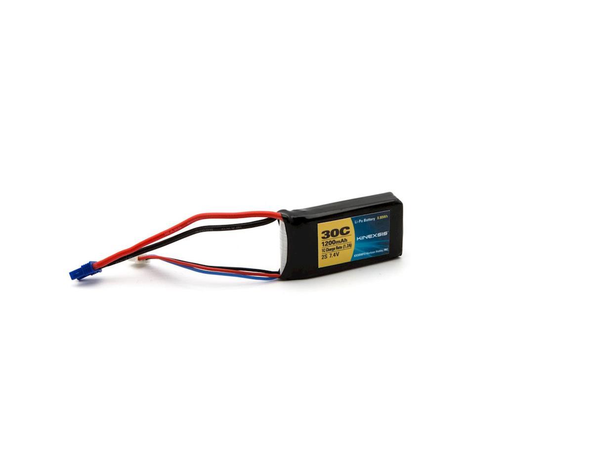 Kinexsis 7.4V 1200mAh 2S 30C LiPo, 18AWG, EC2