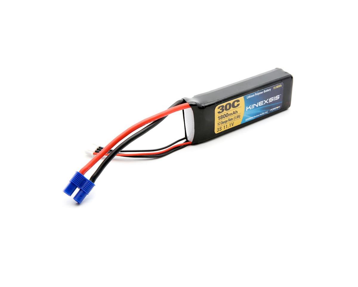 Kinexsis 11.1V 1800mAh 3S 30C LiPo, 13AWG, EC3