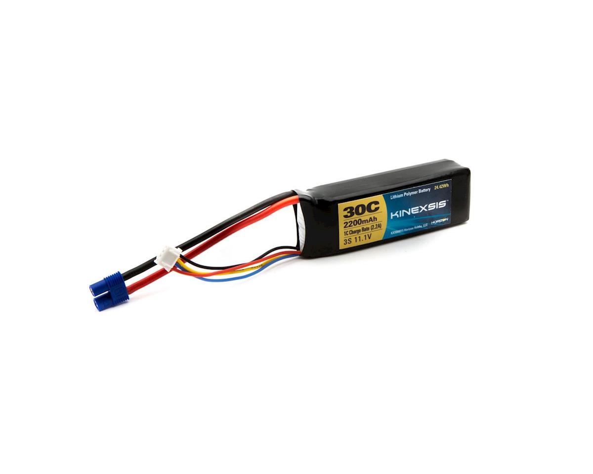 Kinexsis 11.1V 2200mAh 3S 30C LiPo,13AWG, EC3