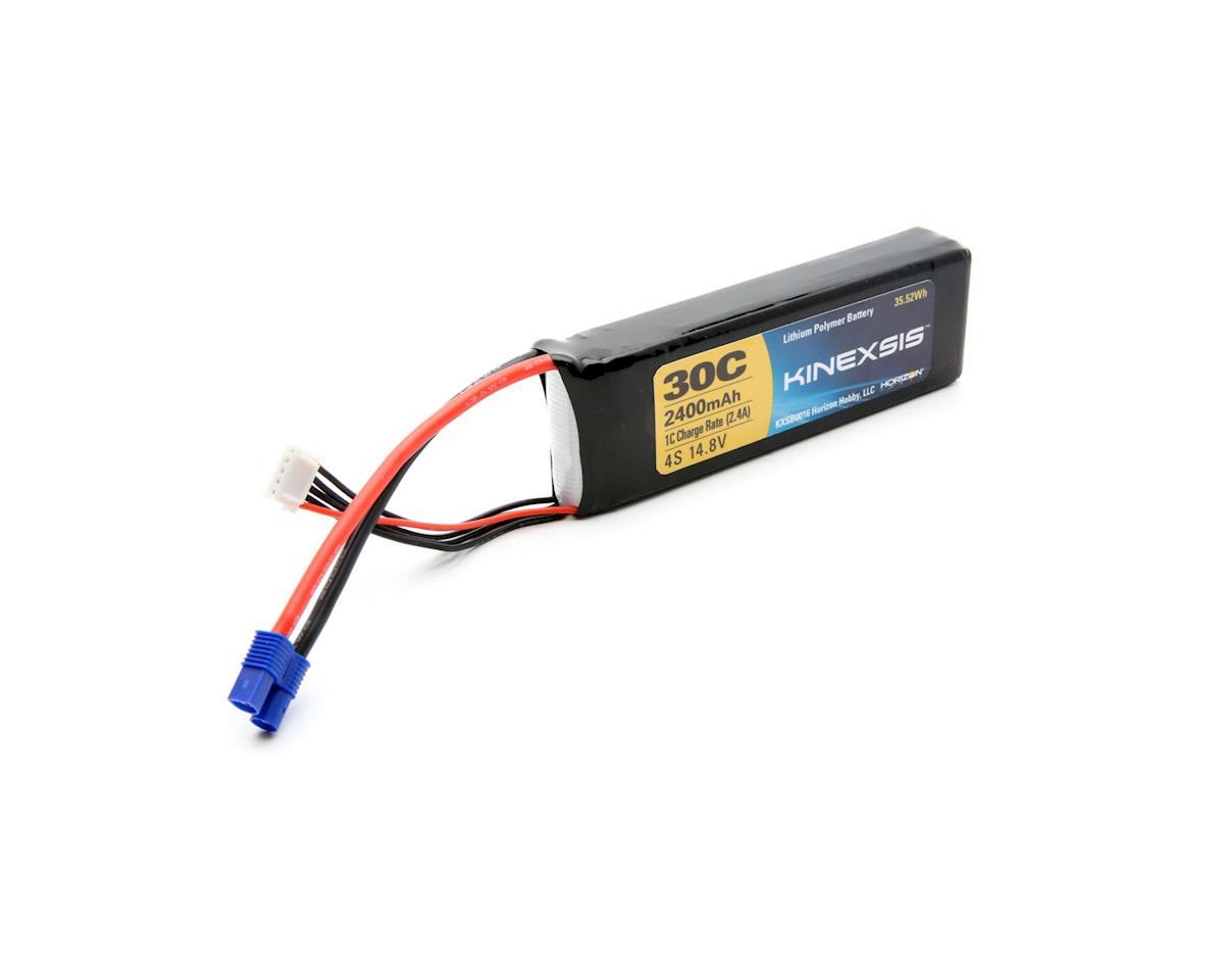 Kinexsis 14.8V 2400mAh 4S 30C LiPo, 12AWG, EC3