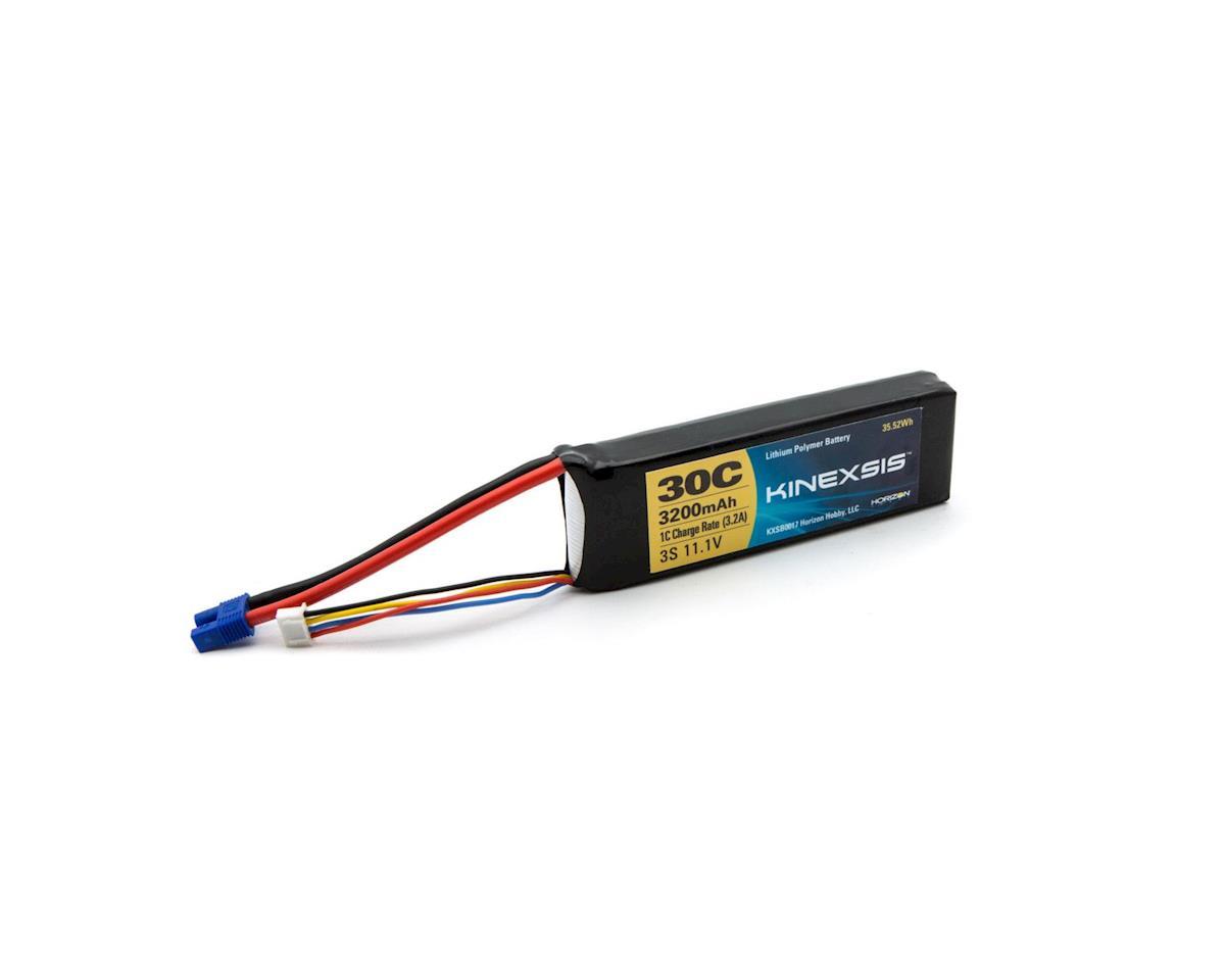 Kinexsis 11.1V 3200mAh 3S 30C LiPo,12AWG, EC3