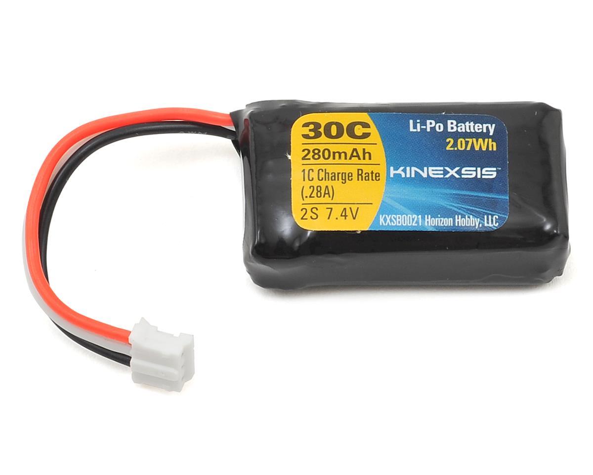 E-flite 7.4V 280mAh 2S 30C LiPo Battery PH EFLB2802S30