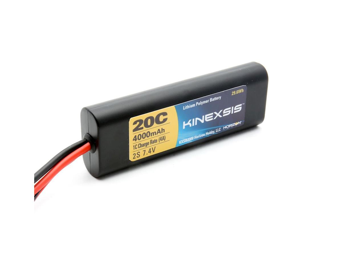 Kinexsis 7.4V 4000mAh 2S 20C LiPo Hard Case w/TRA