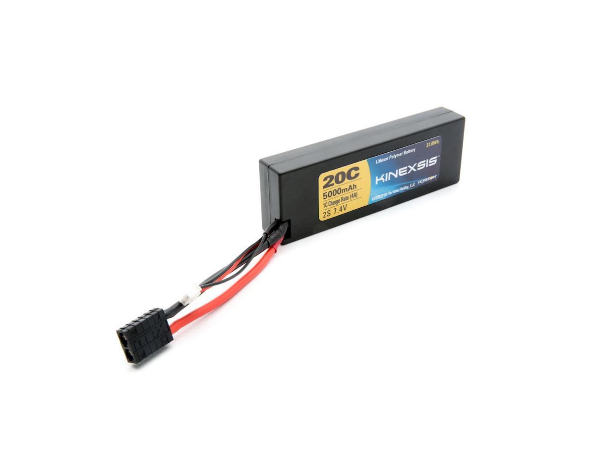 7.4V 5000mAh 2S 20C LiPo Hard Case w/TRA