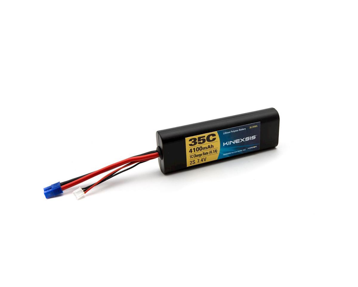 Kinexsis 7.4V 4100mAh 2S 35C LiPo Hard Case: EC3