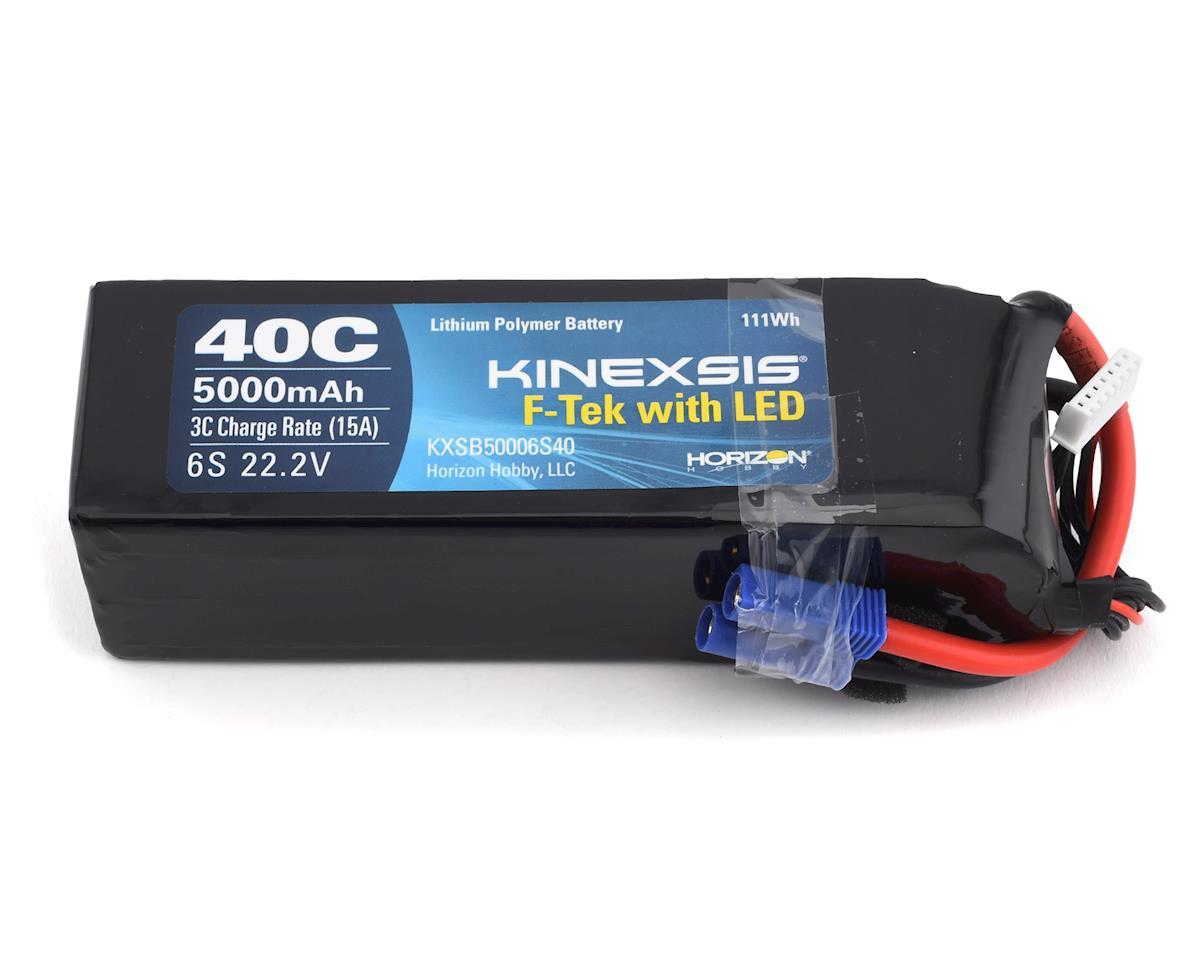 Kinexsis F-Tek 6S 40C LiPo Battery w/EC5 & LED (22.2V/5000mAh)