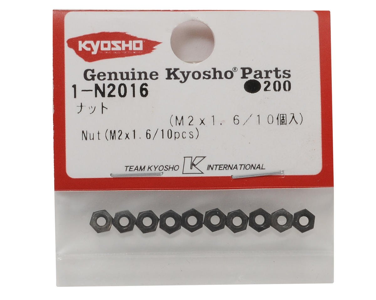 Kyosho 2x1.6mm Steel Nut (10)