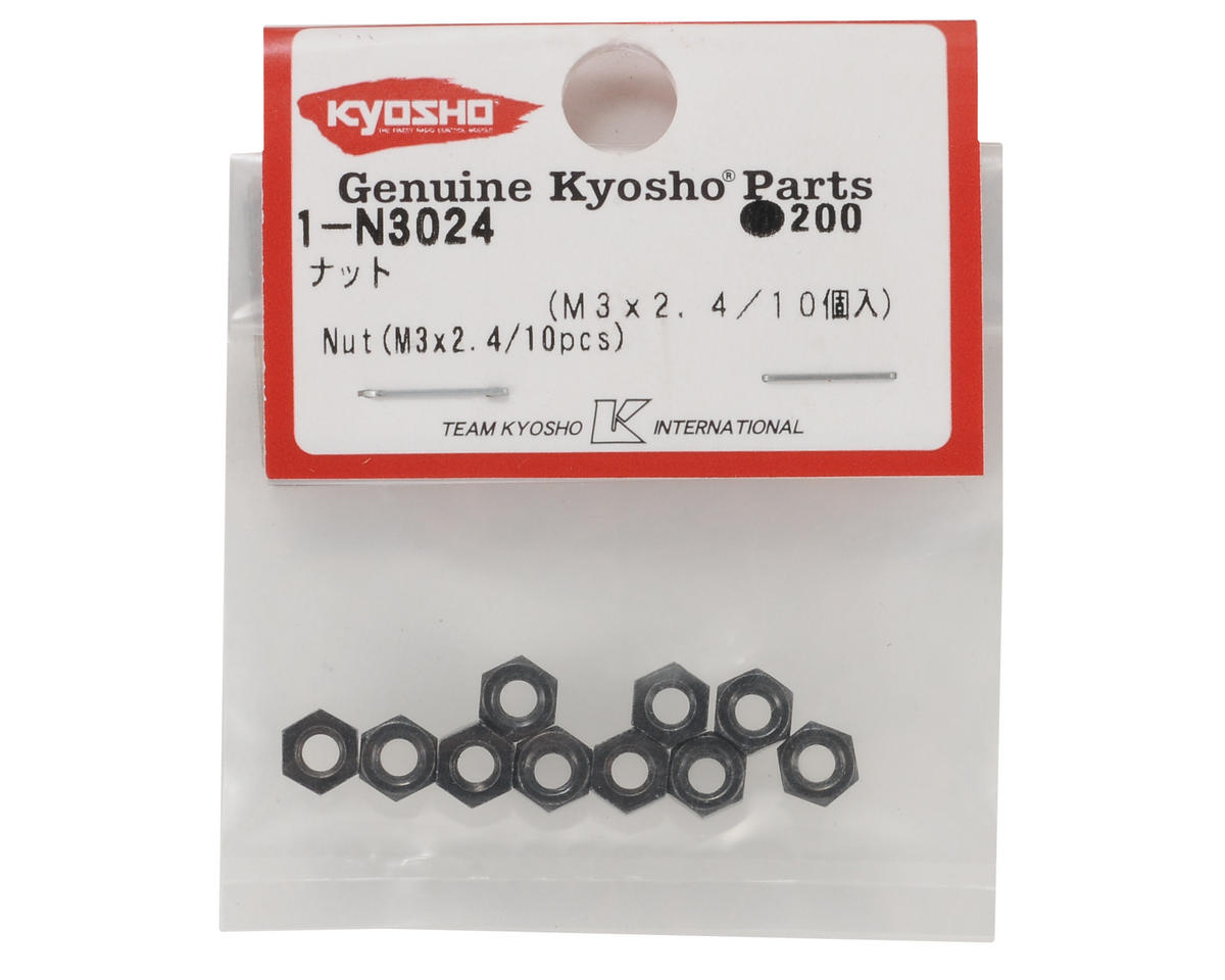 Kyosho 3x2.4mm Steel Nut (10)