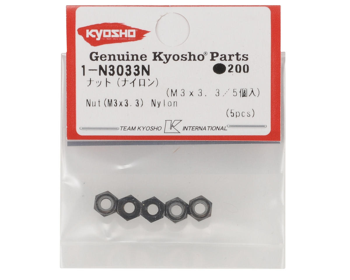 Kyosho 3x3.3mm Thin Nylon Locknut (5)