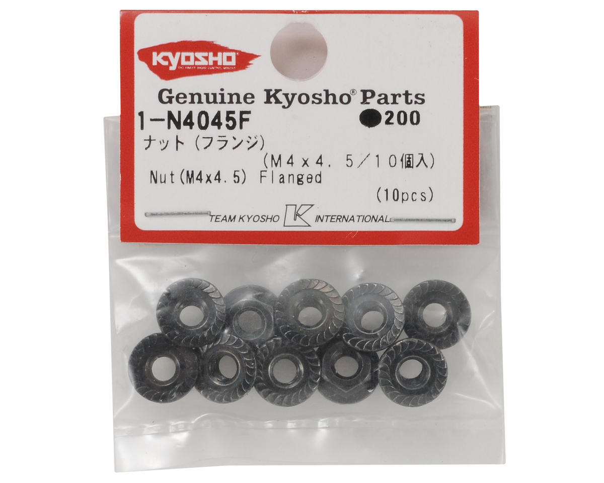 4x4.5mm Steel Flanged Nut (10) by Kyosho