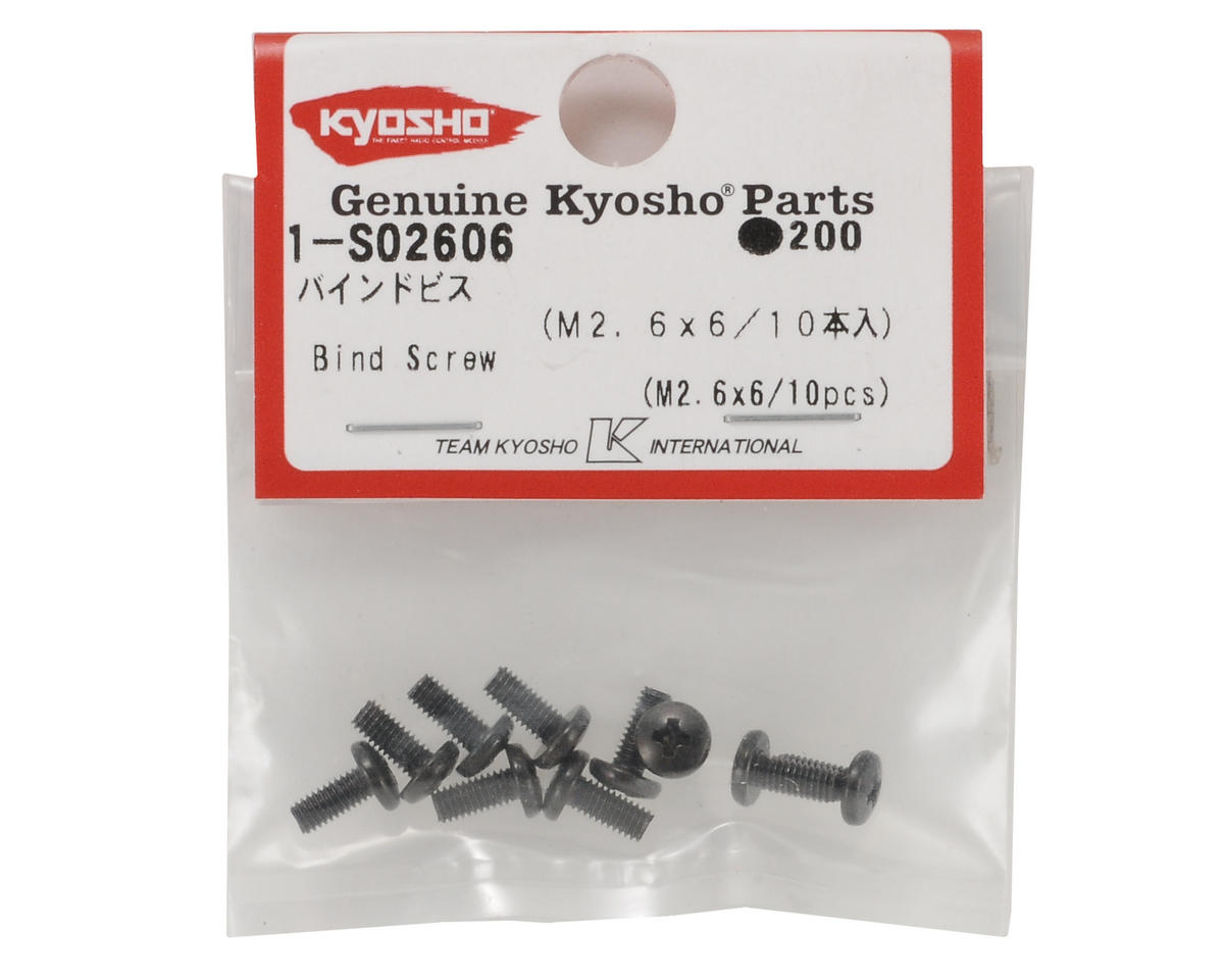 Kyosho 2.6x6mm Binder Head Screw (10)